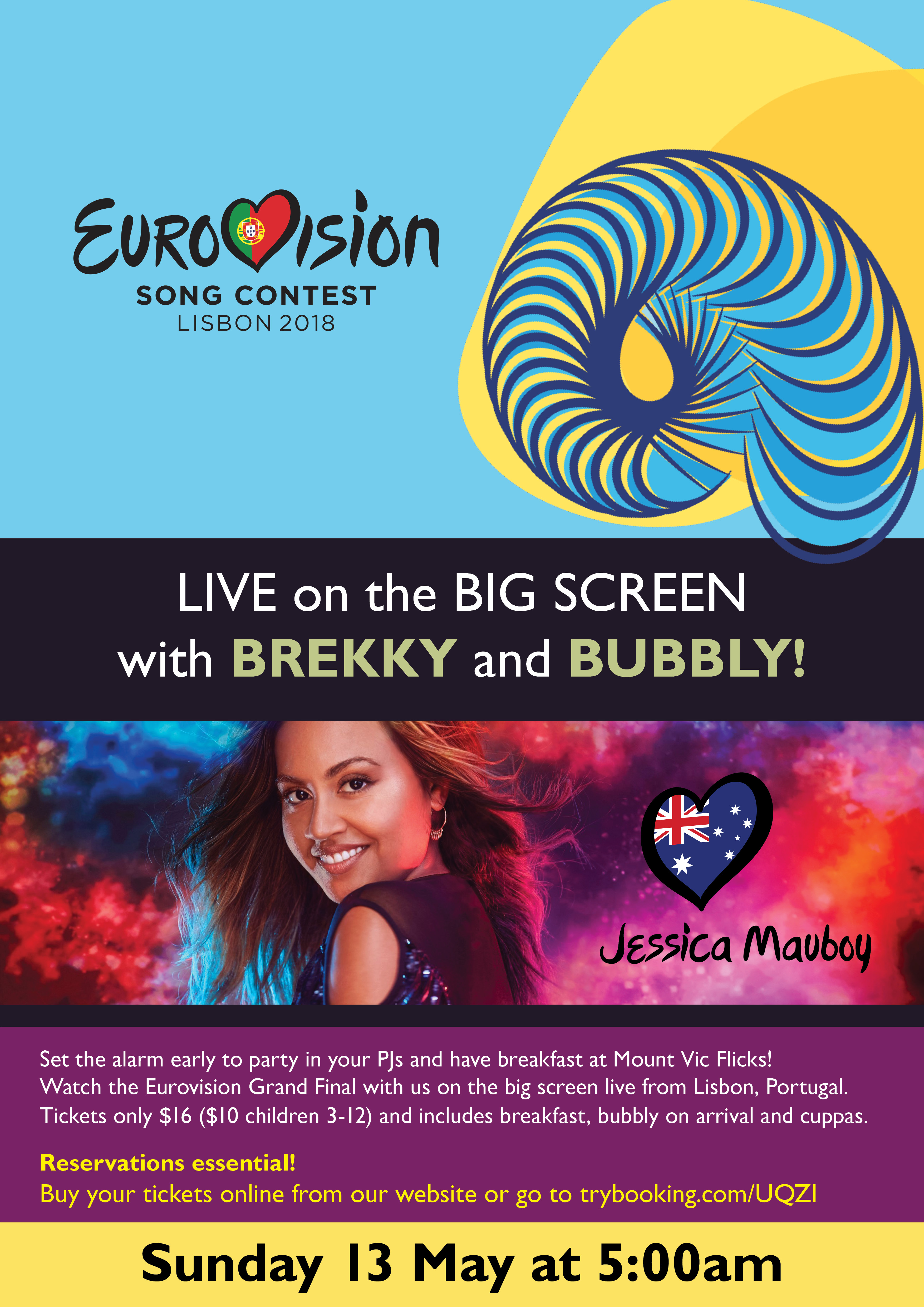 Eurovision 2018 Final Live with Brekky and Bubbly! movie poster